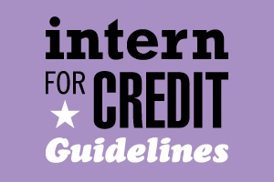 Intern for credit guidelines