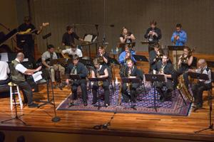 AU Jazz ensemble in performance