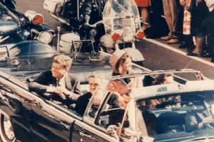 John F. Kennedy in Dallas on the day of his assassination.