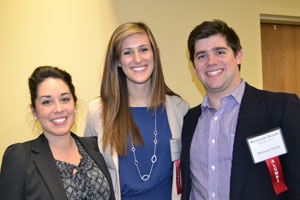 AU alumni Kayla Fenner, Jade Ryan, and Ben Kessler were hired by public relations firm Meltwater Group after the spring 2012 Job and Internship Fair. Kessler will represent the company at this month's fair. Photo by Ashley Boney.