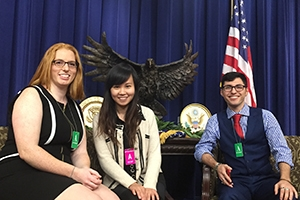 AU Game Lab students at the White House for eSports event.
