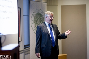 David Trone, owner of Total Wine, spoke at Kogod.