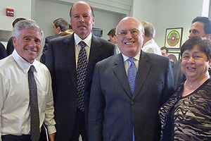 From left: Alan Meltzer, Richard Birnbaum, Chair of the Kogod Advisory Council, and Richard and Angie Clark at the March 23 Speaker Series event.