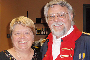 Kay and Jim Baker at a Christmas Party for Jim's National Sojourners Chapter. The National Sojourners are Masons who are former military officers.