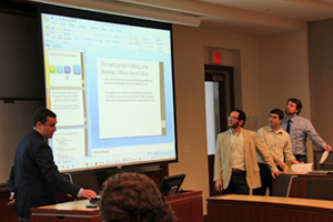 Students present in Professor Mark Clark's MBMT-632 class.