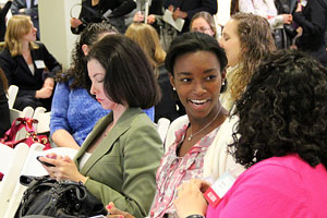 Alumni, students, and community members at the first Women in Business conference.