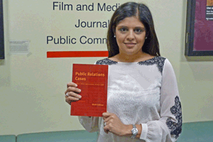 Professor Pallavi Kumar worked on the new book, Public Relations Cases, with colleagues Darrell Hayes and Jerry Hendrix.