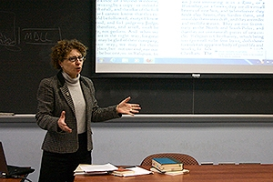 Professor Anita Sherman teaching class.