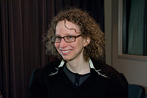 Photo: Jennie Livingston, documentary filmmaker at screening of her film Paris is Burning