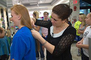 Photo: Lisa Schaaf had 10 inches of her hair cut off for Locks of Love