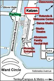 Katzen Arts Center map