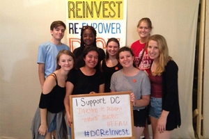 Samantha Miller among AU students supporting DCReInvest.