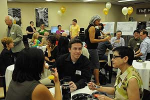 Faculty enjoy library brunch