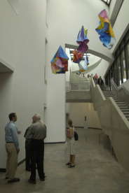 Enjoying art in the Katzen Arts Center