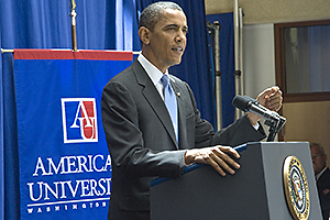 Photo: President Obama speaks July 1 at SIS.