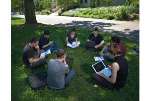 Group Studying on Quad