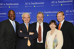 White House Reporters AU alum Dan Lothian, CNN; Don Gonyea, NPR;  AU alum, Kenneth Walsh, 'U.S. News and World Report'; Sheryl Stolberg, 'New York Times'; and John Dickerson, 'Slate' magazine.