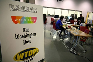 Graduate journalism students at American University spread out around the region and filed election reports for WAMU, The Washington Post and WTOP.