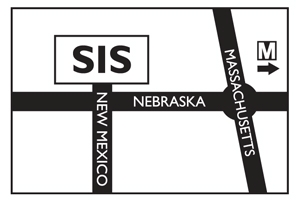 A diagram of the SIS building