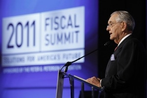 Peter G. Peterson speaking at Fiscal Summit 2011