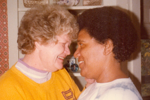 Feminist writer Audre Lorde, on the left, and her partner Frances Clayton.