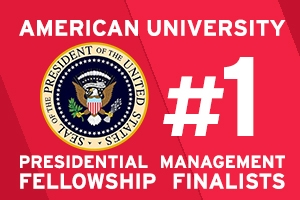 American University is #1 in Presidential Management Fellowship finalists for the second year in a row.