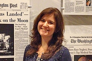 Student Rachel Karas worked as a reporter for the Washington Post as part of the American University School of Communication's Dean's Internship program