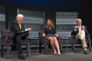 From left: Nick Clooney, Betsy Fischer, and David Gregory (Photo: Jeff Watts)