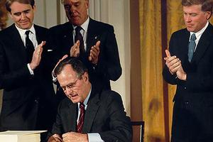 President H. W. Bush with Bill Reilly