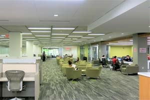 Inside of Bender Library lobby