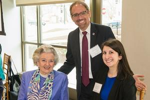 (Left to right) Janice Anderson, Provost Dan Myers, and Alex Long