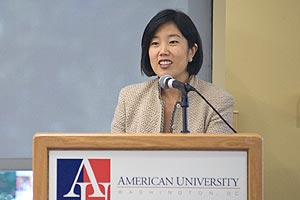 Michelle Rhee speaks about D.C.public school students.