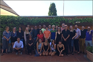 Students and faculty of the Rome summer MFA program.