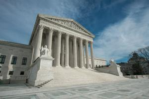 The steps of the Supreme Court