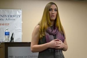 Transgender activist Sarah McBride, SPA/BA '13 talks advocacy