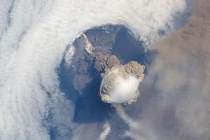 Sarychev Volcano.