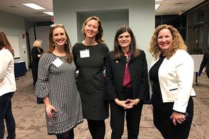 Betsy Fischer Martin, Elizabeth Suhay, Rep. Haley Stevens, Vicky Wilkins