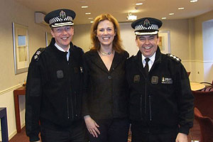 Photo: SPA director of communications Jackie Corbett and Grampian Police chief Inspector Ian Wallace and Chief Superintendent Ewan Stewart.