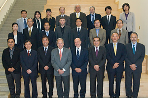 Participants in the Six-University Conference held at the School of International Service in October.