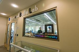 Exterior of the Design and Build Lab at American University