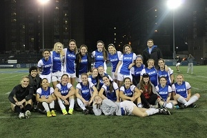 Group Photo of Club Women's Soccer Team