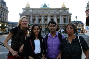 From left to right: Director Kim Blankenship, Assistant Director Monica Biradavolu, Research Manager Nimesh Dhungana and India collaborator Annie George