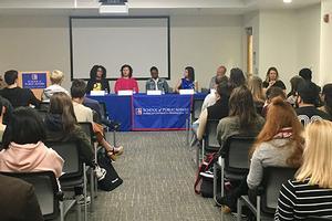 Alumni Panel speaking