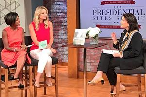 Anita McBride interviews with D.C.'s CBS WUSA9