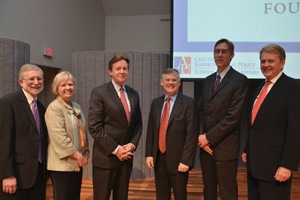 Daniel Fiorino, Director, CEP; Barbara Romzek, Dean, SPA; Neil Kerwin, President, American University; H. Jeffrey Leonard, President and CEO, Global Environment Fund; Deerin Babb-Brott, Director National Ocean Council; and William K. Reilly