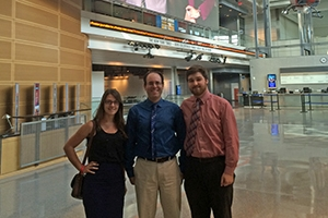 Chris Edelson, center, with Lindsey Halverson, left, and Kyle Anderson