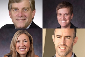 SPA faculty, clockwise from upper left - Bennett, Palmer, Moore, and Addington