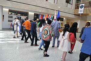 students dance at spring cultural festival