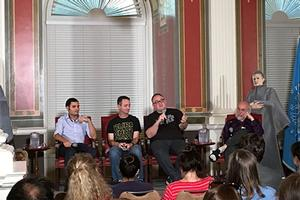 Panel speaking at Star Wars Under the Stars event