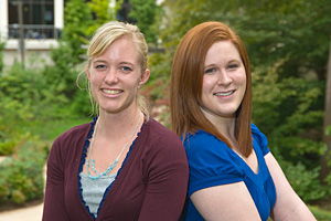 Alyssa Briggs and Rachel White, cochairs of Honors 101